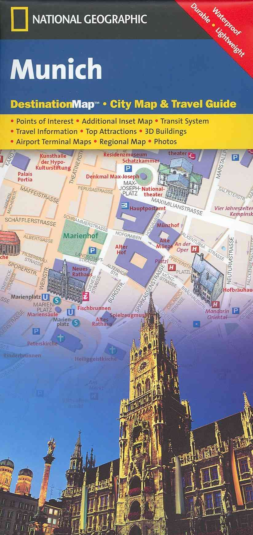 National Geographic Destination City Map Munich By National Geographic Maps